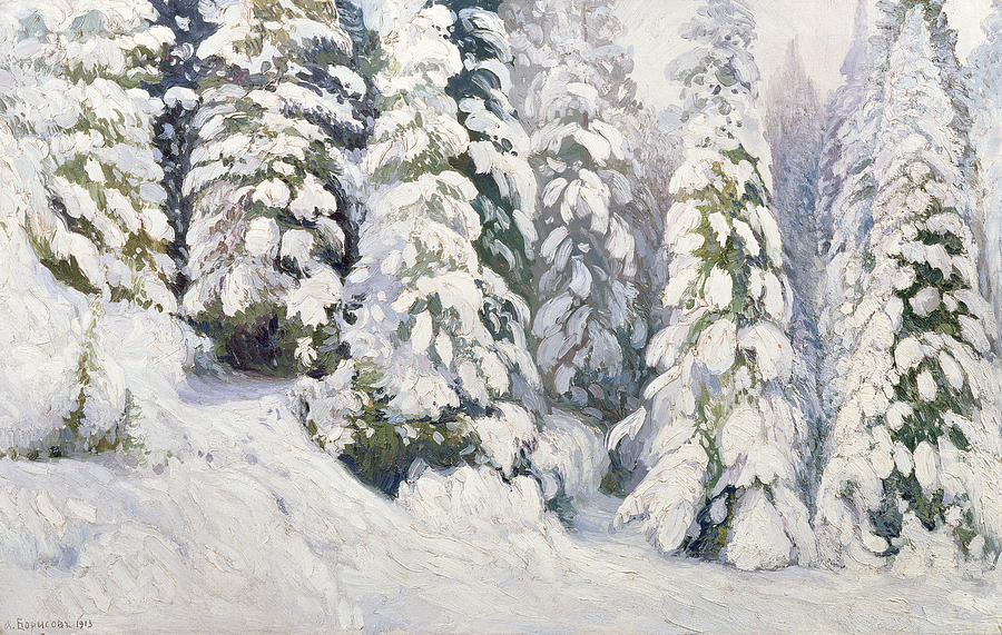 Winter Painting - Winter Tale by Aleksandr Alekseevich Borisov