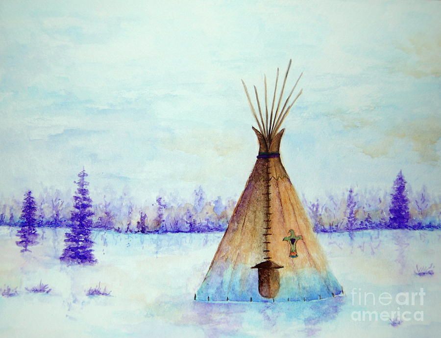 Winter Tepee by Tamyra Crossley
