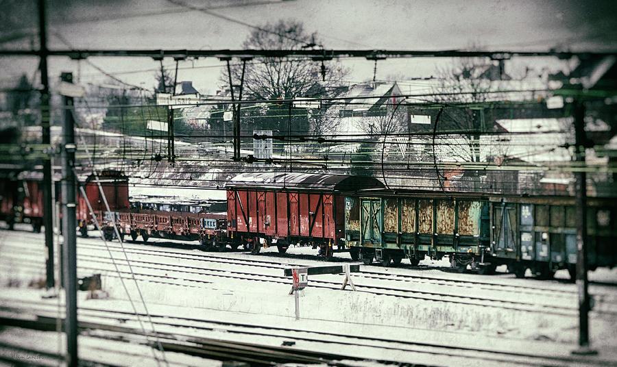 Railroad Photograph - Winter Transport by Wim Lanclus