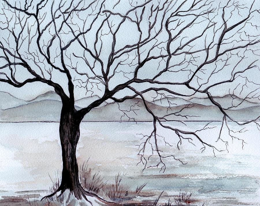 Winter Tree Painting by Brenda Owen