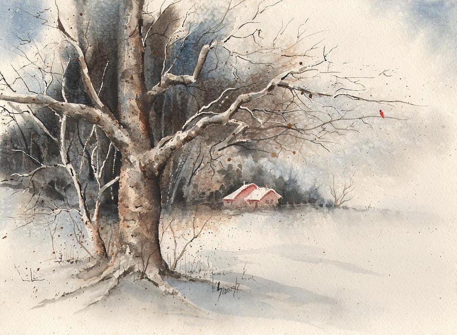 Tree Painting - Winter Tree by Sam Sidders