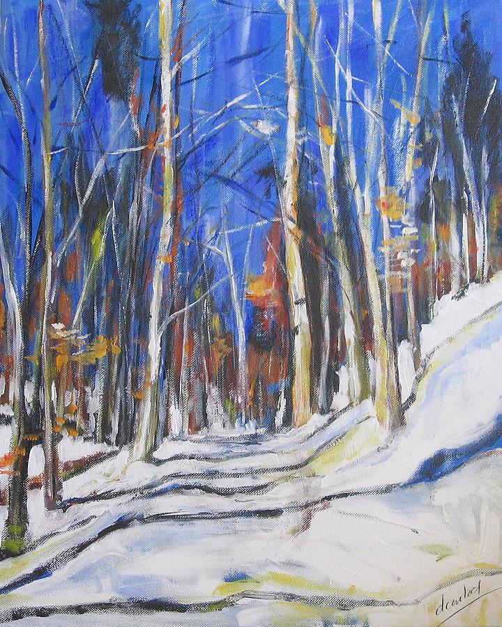 Trees Painting - Winter Trees by Debora Cardaci