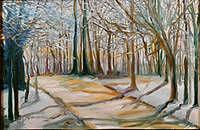 Landscape Painting - Winter Trees by Glynnis Sorrentino