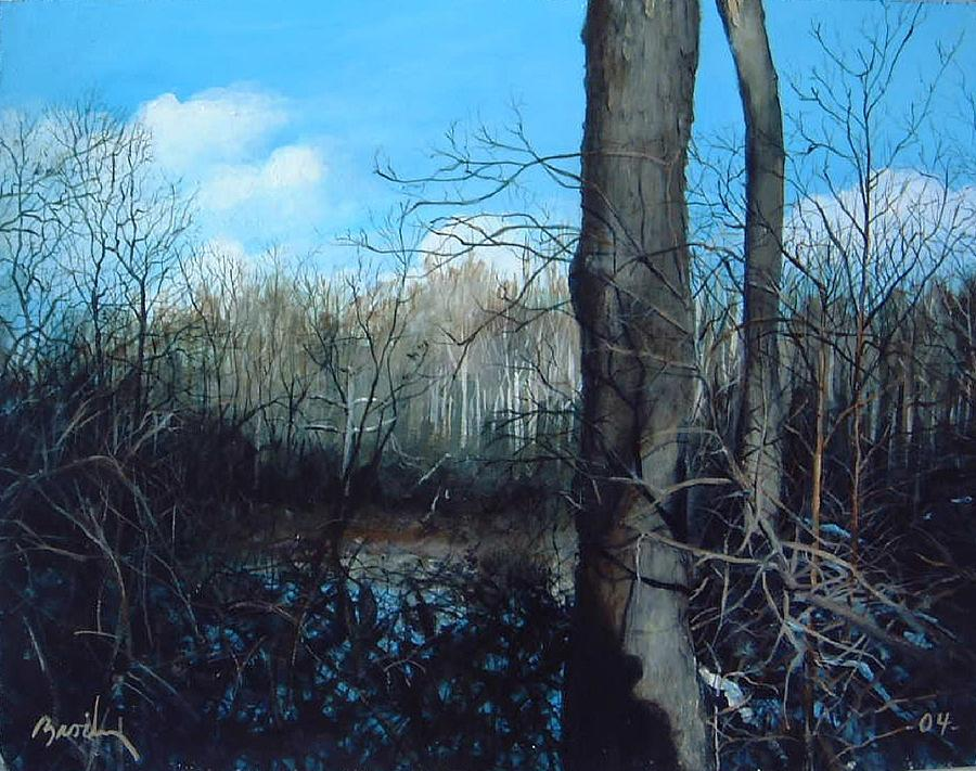 Landscape Painting - Winter Trees by William  Brody