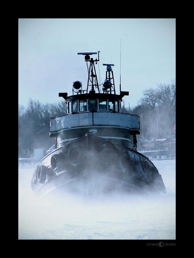 Tug Photograph - Winter Tug by Tim Nyberg