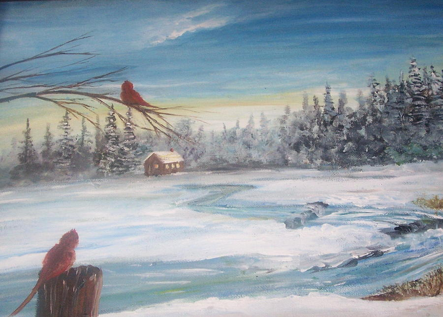 Winter Painting - Winter Up State  by Richard Finnell