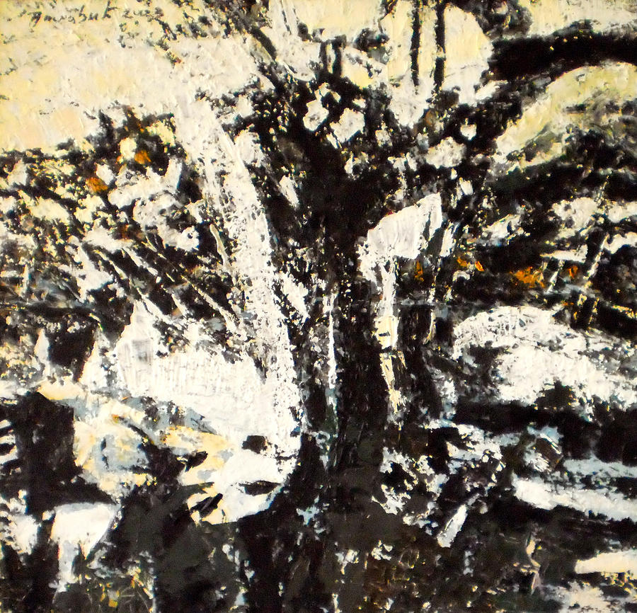 Abstraction Painting - Winter by Vladimir Vlahovic