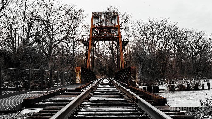 Winter Walk - Orange Photograph by Michael Hostetler