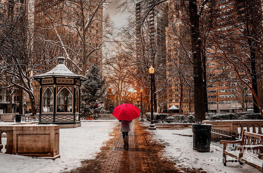 Rittenhouse Square Photograph - Winter Walk by Stacey Granger