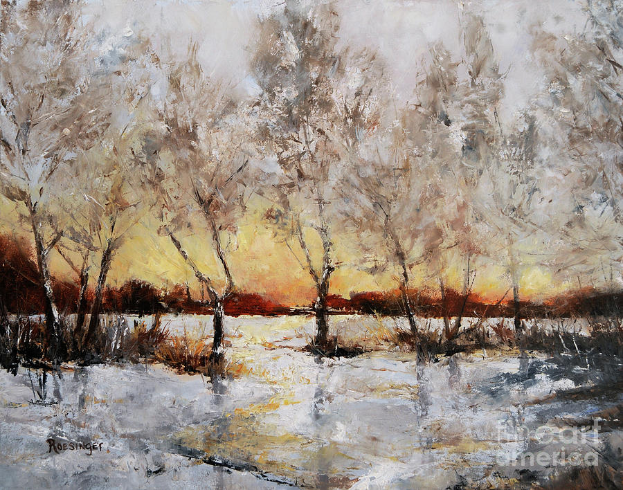 Winter Painting - Winter Warmth by Paint Box Studio