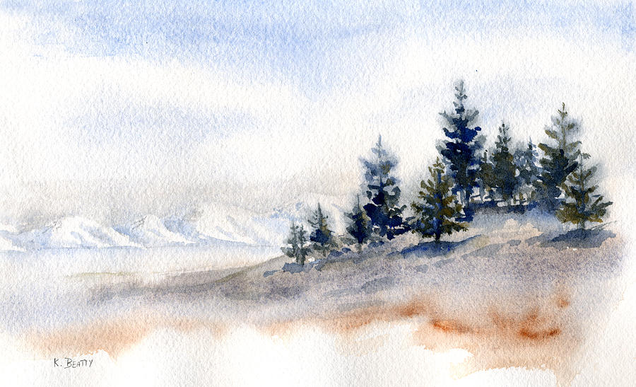 Winter Painting - Winter Watercolor Painting by Karla Beatty