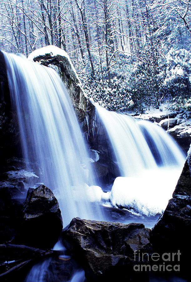 West Virginia Photograph - Winter Waterfall by Thomas R Fletcher