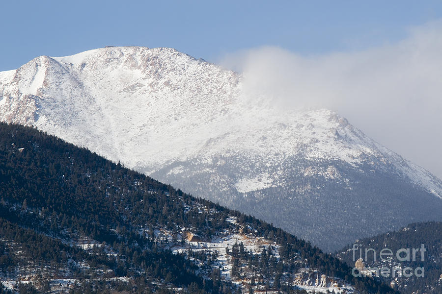 Winter Weather On Pikes Peak Colorado Photograph
