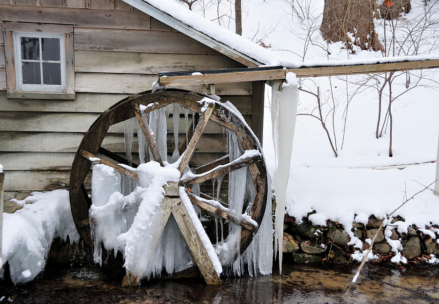 Mill Photograph - Winter Wheel by David Arment