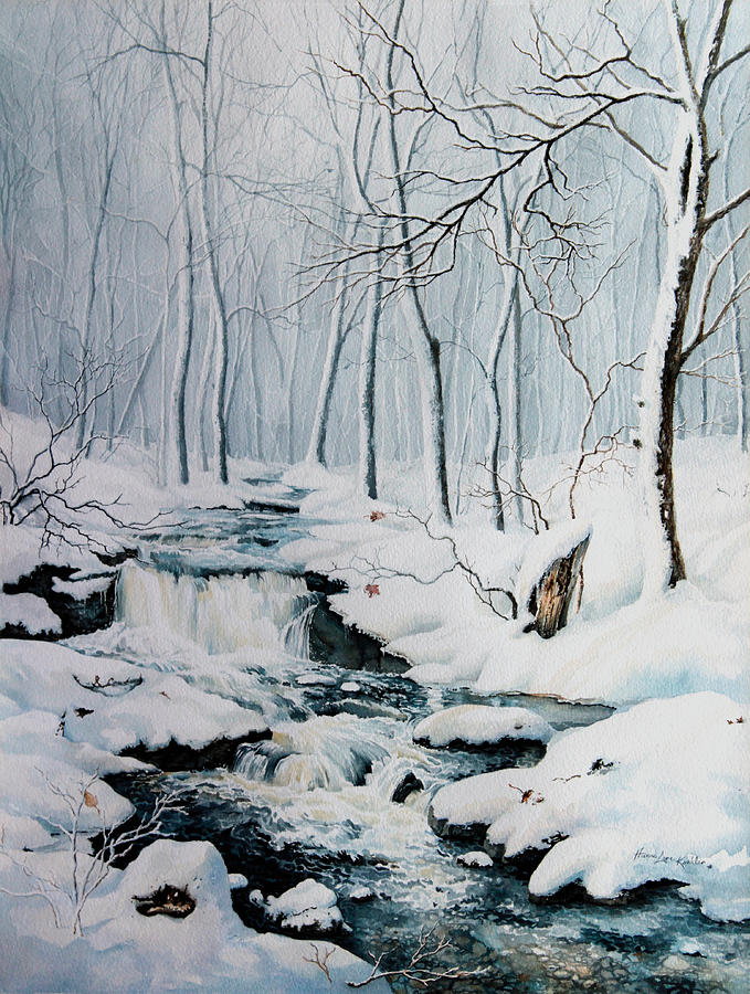Winter Woods Painting - Winter Whispers by Hanne Lore Koehler