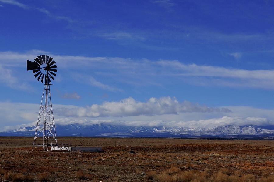 Winter Windmill by Julie Carter
