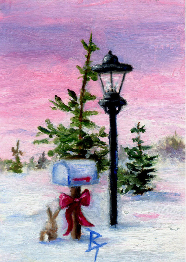 Winter Painting - Winter Wonderland Aceo by Brenda Thour