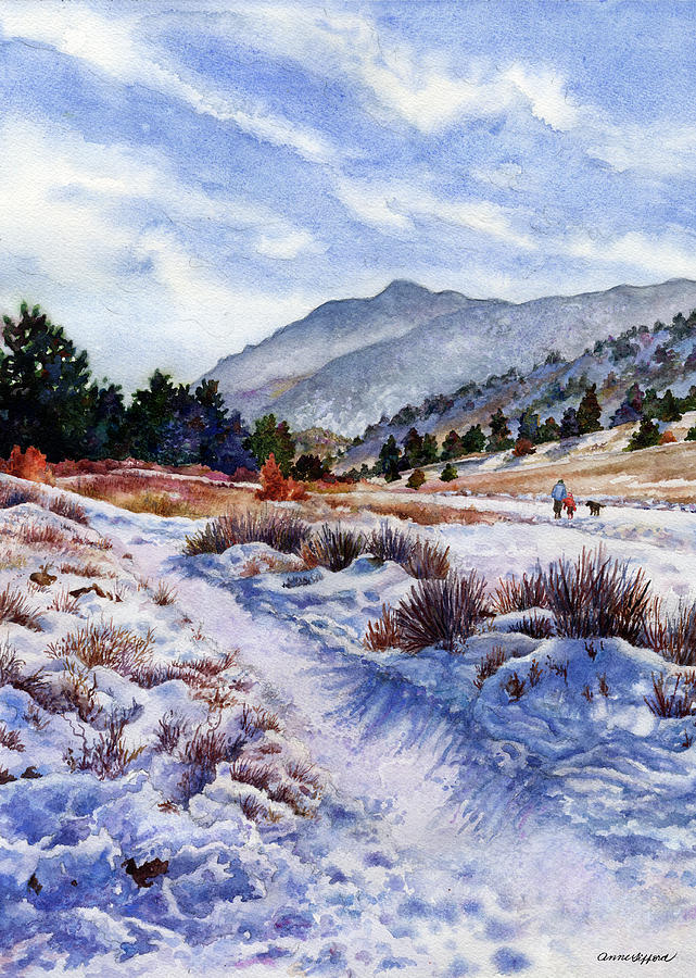 Snow Scene Painting Painting - Winter Wonderland by Anne Gifford