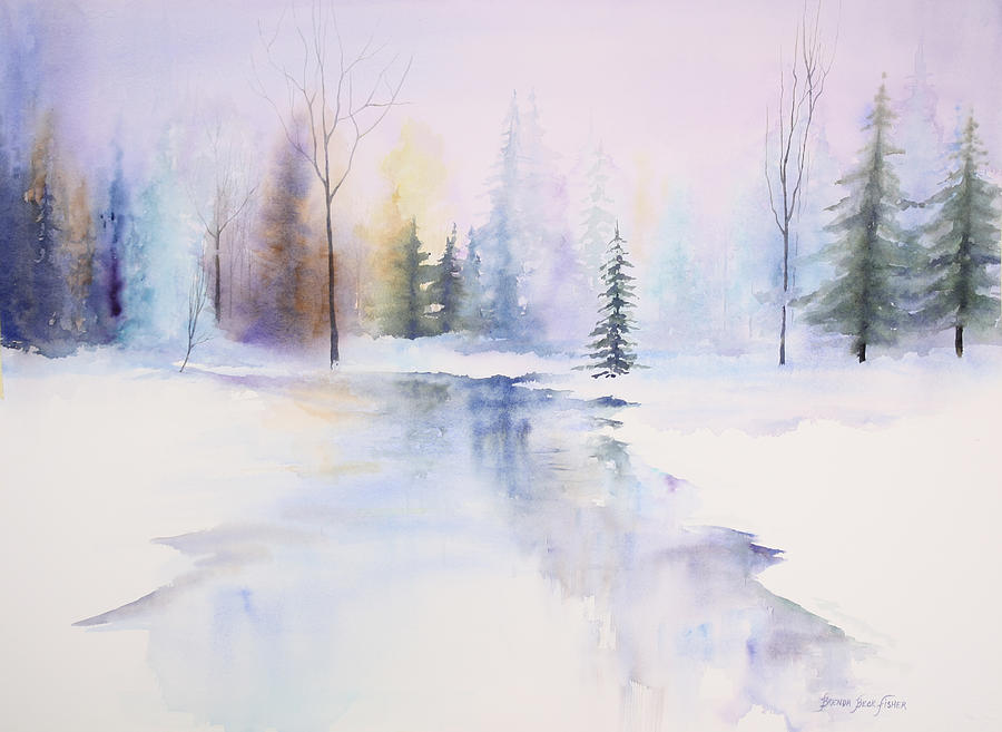 Winter Painting - Winter Wonderland by Brenda Beck Fisher