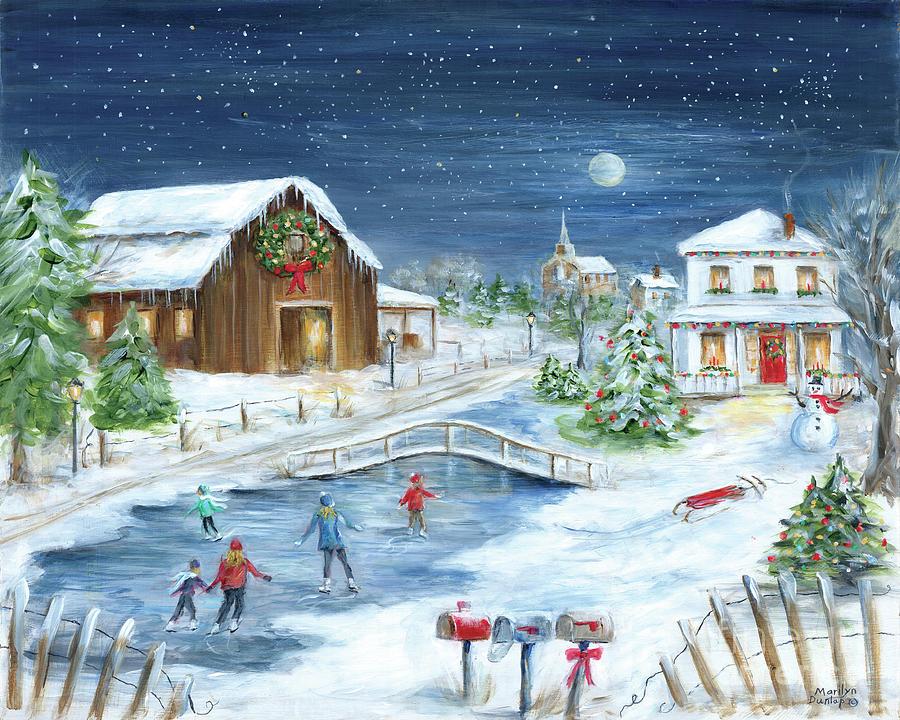 Acrylic Paintings Of Christmas Scene