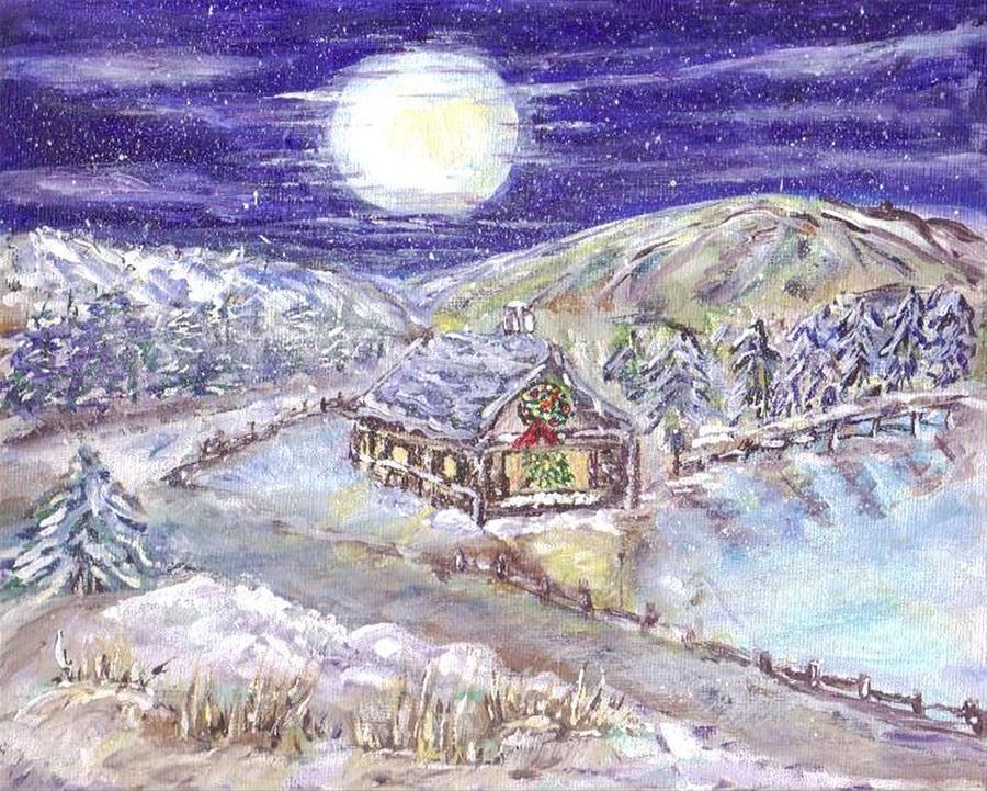 Christmas Eve Painting - Winter Wonderland by Mary Sedici