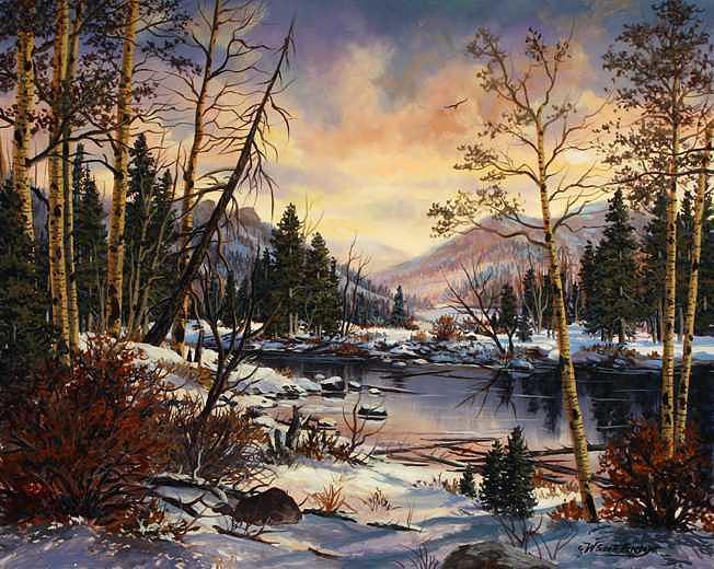 Winter Wonderland Painting by W  Scott Fenton