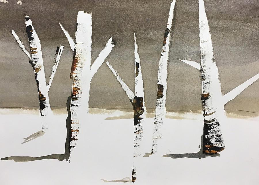 Winter Painting - Winter Wood by Carole Johnson