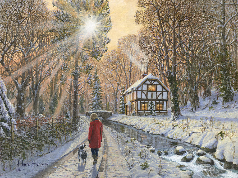 Winter Woodland Painting