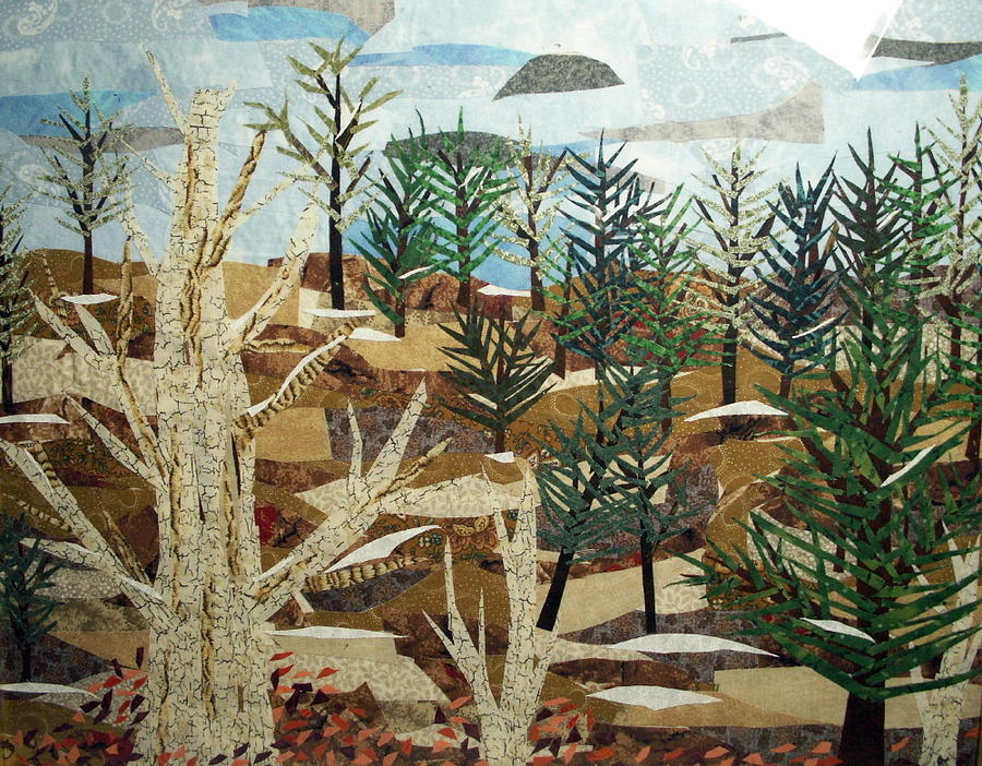 Landscape Tapestry - Textile - Winter Woods by Charlene White