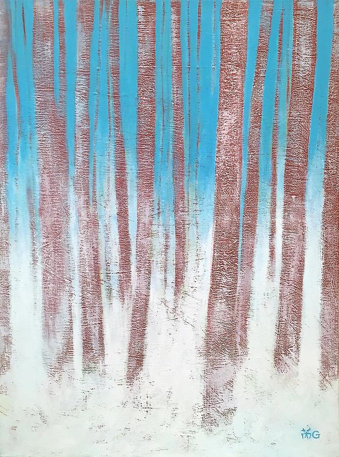 Woods Painting - Winter Woods by Wonju Hulse