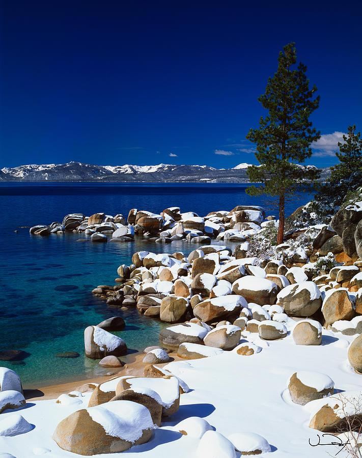 Lake Tahoe Winter Wallpaper Desktop Background: Winter Wrappings Lake Tahoe Photograph By Vance Fox