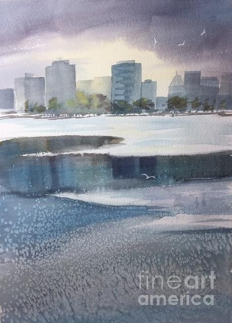 Winter Watercolor Painting - Winter by Yohana Knobloch