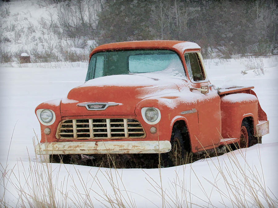 1955 Chevy Truck >> Winterized 1955 Chevy Pickup