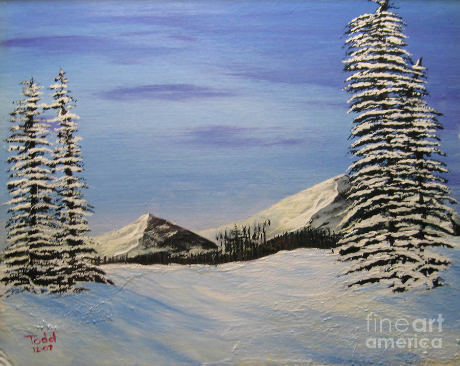 Landscape Painting - Winters Chill by Todd Androy