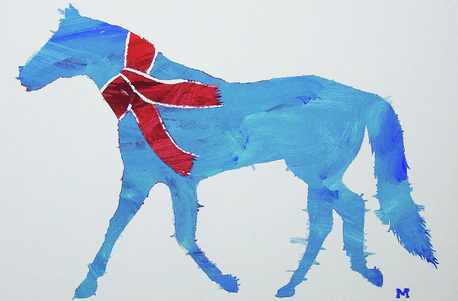 Horse Painting - Winters Coming by Candace Shrope