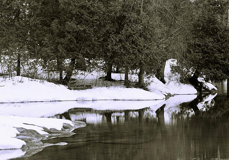 Water Photograph - Winters Edge by Al Fritz