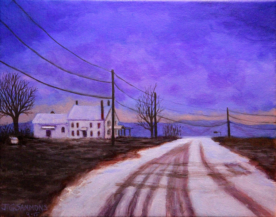 Winters Evening by Janet Greer Sammons