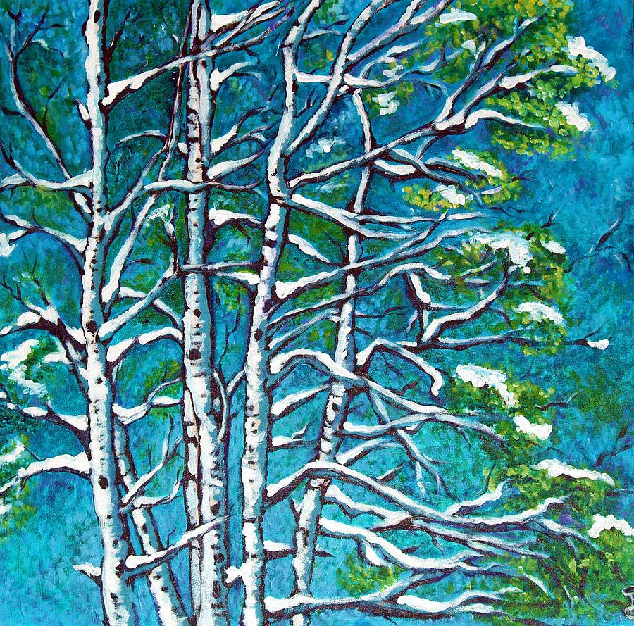 Landscape Painting - Winters First Chill by Sheri Gundry