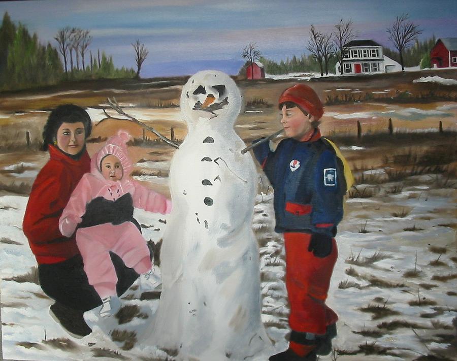 Winters Friend Painting by Lottiemae Littlefield