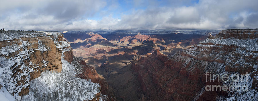 Grand Canyon Photograph - Winters Grasp At The Grand Canyon by Sandra Bronstein