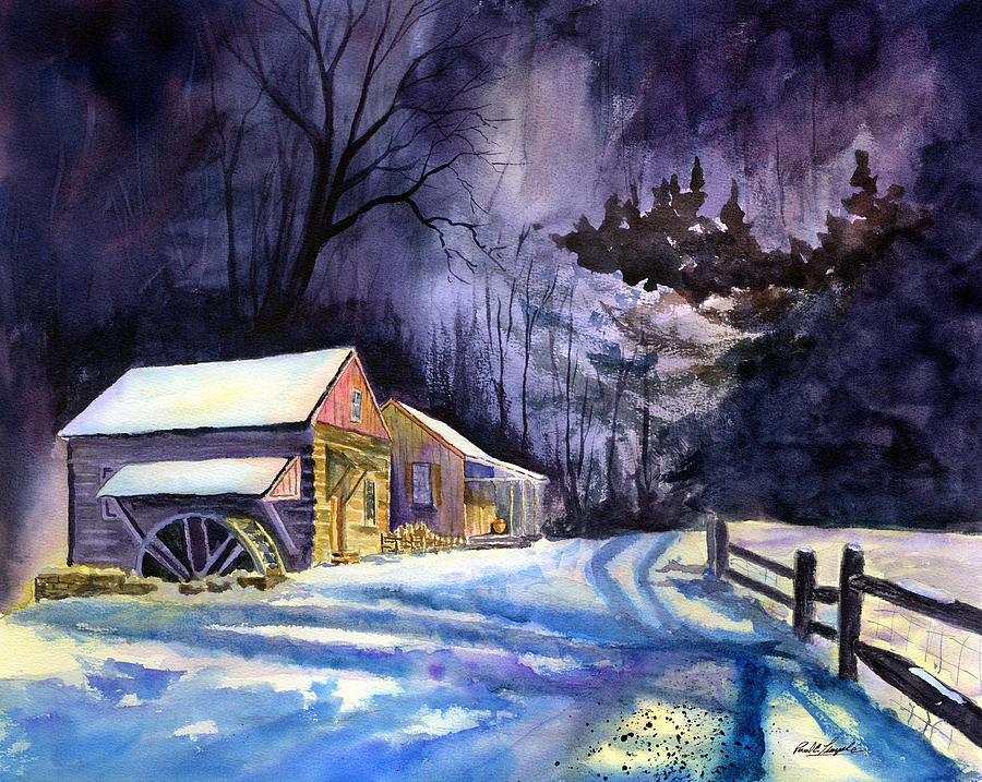 Winter Painting - Winters Grip by Paul Temple