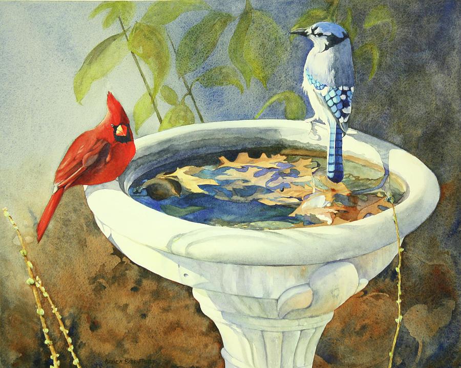 Birds Painting - Winters Harbingers by Brenda Beck Fisher