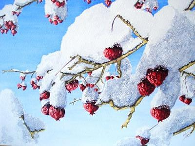 Winters Icing Painting by Dave Acton