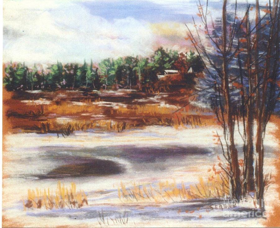 Landscape Pastel - Winters Light by Sandy Sereno
