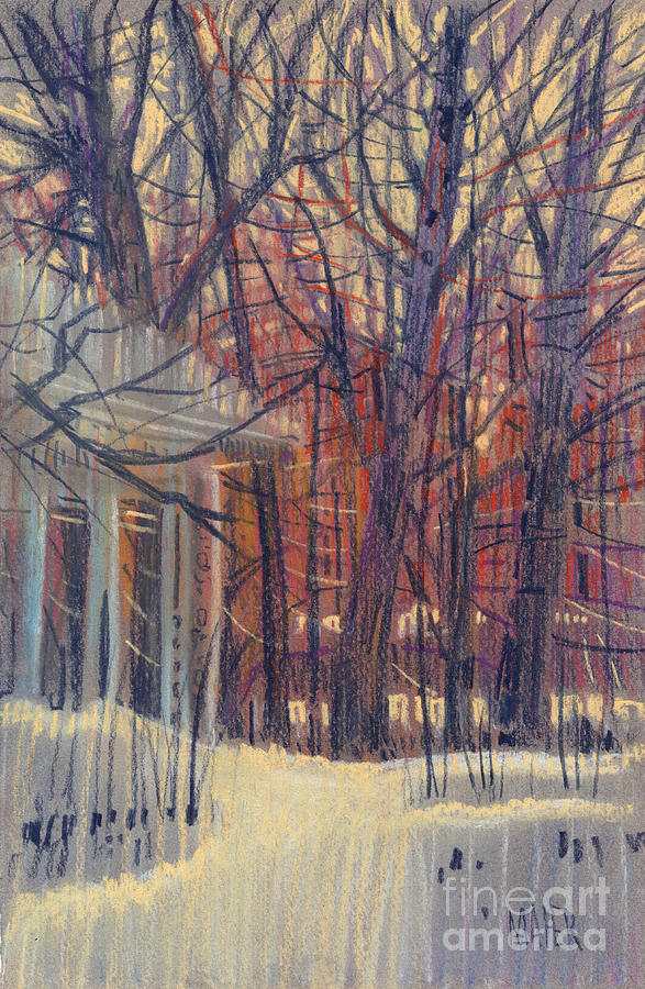 Winter Drawing - Winters Snow by Donald Maier