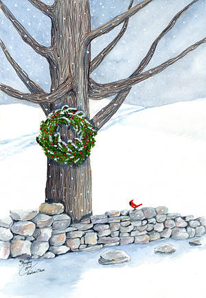 Christmas Painting - Winters Tree by Kay Murphy