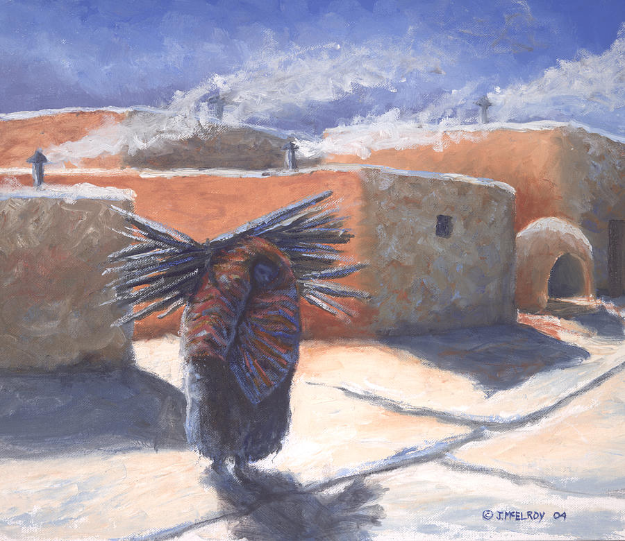Adobe Painting - Winters Work by Jerry McElroy