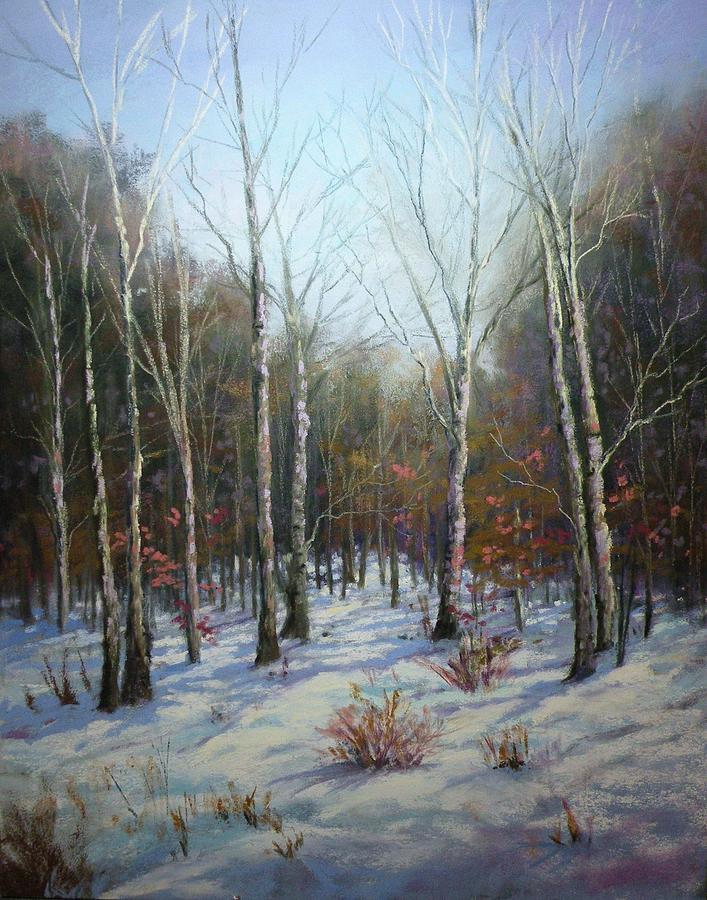 Pastel Painting - Winterscape by Paula Ann Ford