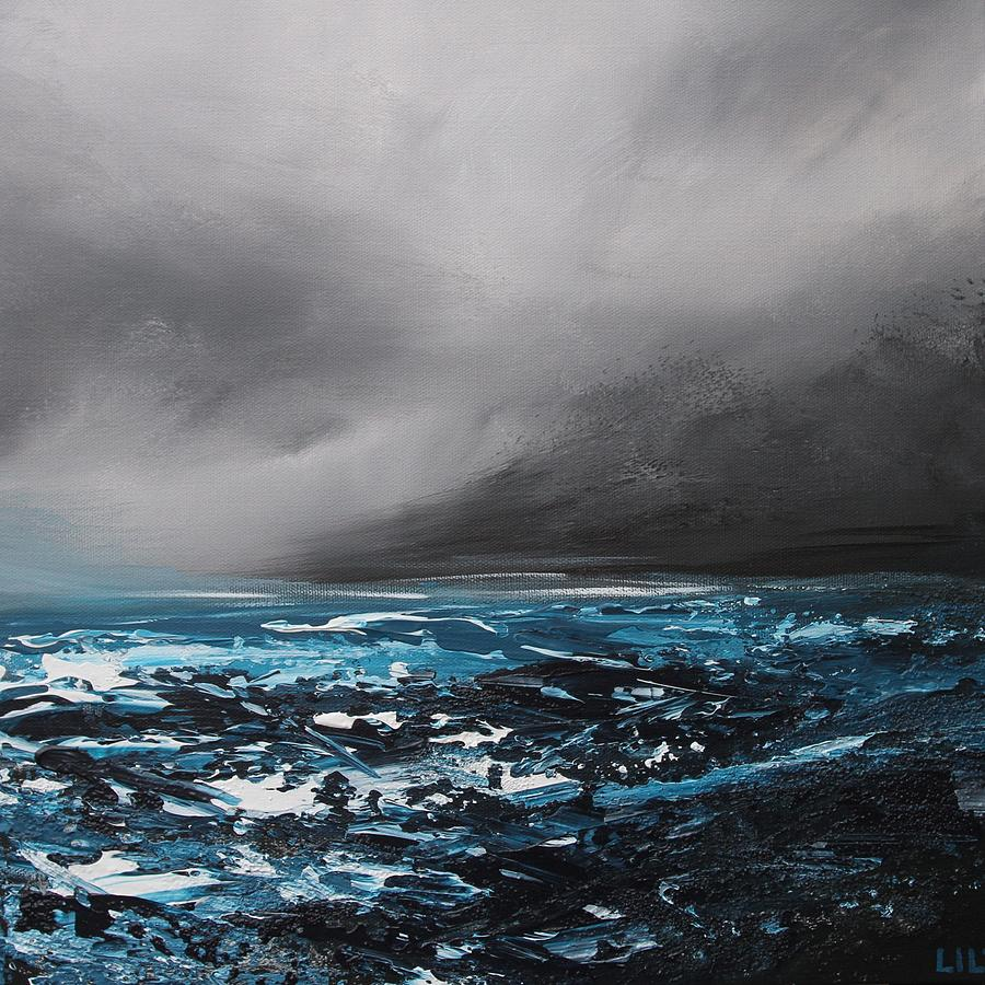 Sea Painting - Winterstorm by Lilu Lilu