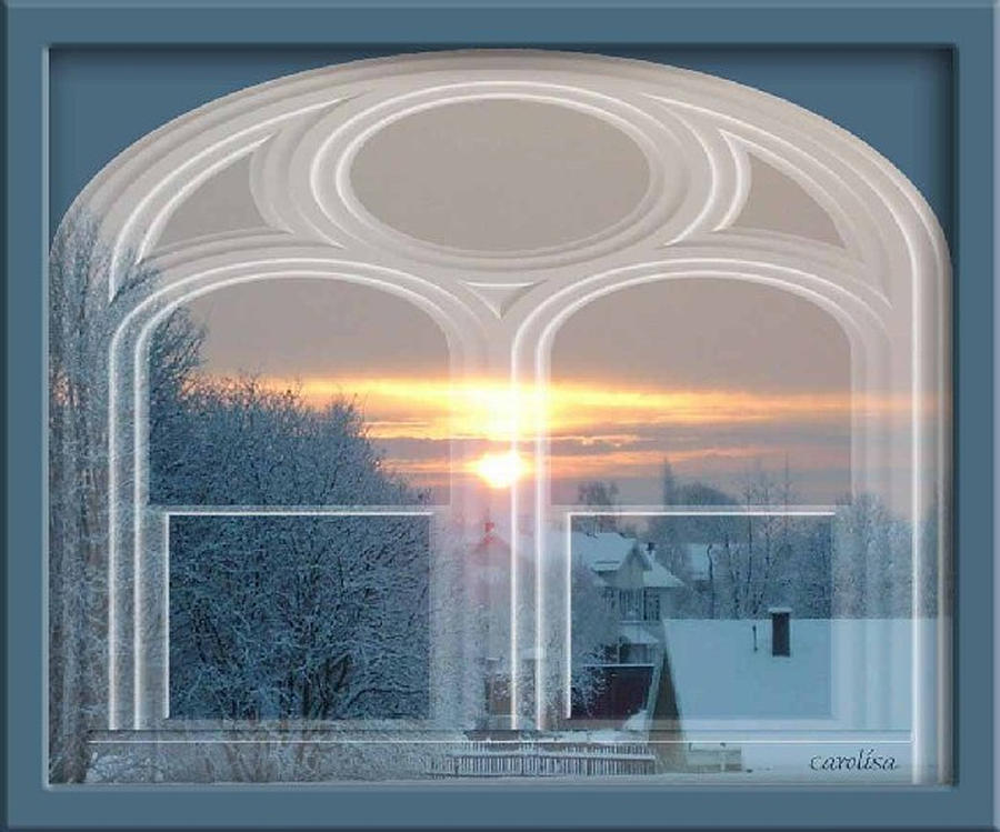 Snow Photograph - Winterview From My Window by Carola Ann-Margret Forsberg